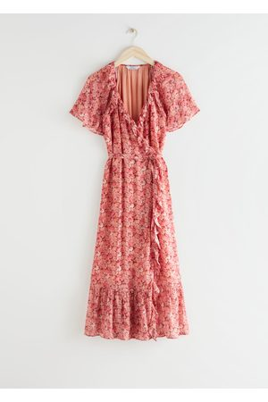 & OTHER STORIES Ruffled Midi Wrap Dress