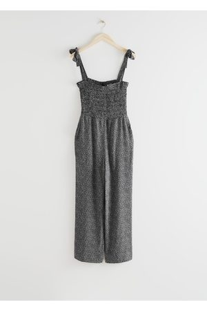 & OTHER STORIES Smocked Polka Dot Jumpsuit
