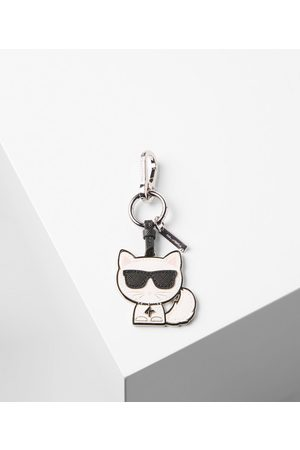 Karl Lagerfeld Keychains - Beloved Choupette complete with signature sunglasses features as a playful keychain. Team this key fob with the range of statement accessories for the complete K/Ikonik look. • Leather • Metal keyring