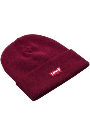 Levi's Batwing Slouchy Embroidered Beanie One Size Dark Bordeaux