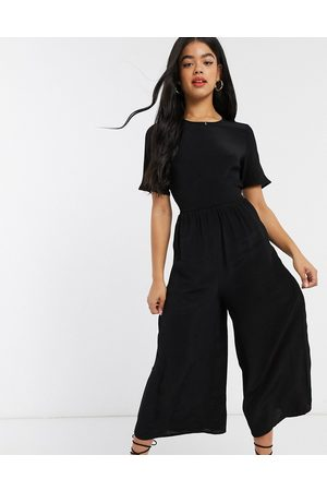 ASOS Tea jumpsuit with button back detail in