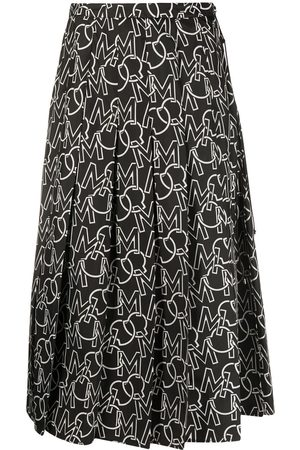 Moncler Women Printed Skirts - Logo print pleated skirt