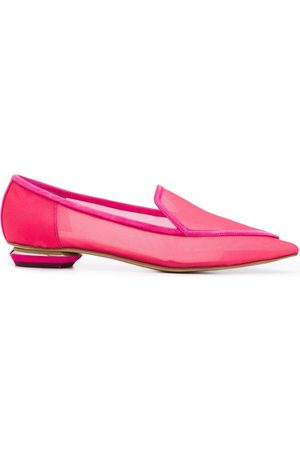 Nicholas Kirkwood Beya mesh pointed toe loafers