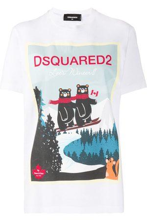 Dsquared2 Logo alpine print T-shirt