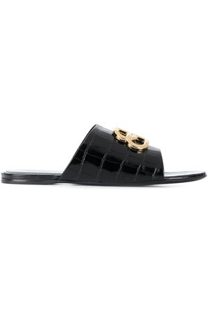 Balenciaga BB leather sandals