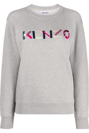 Kenzo Logo embroidered sweatshirt - Grey