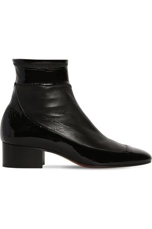 Loewe 40mm Stretch Leather Ankle Boots