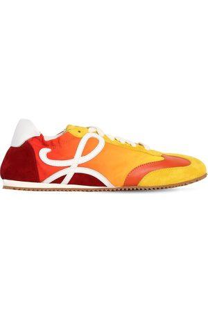 Loewe 100mm Ballet Nylon & Suede Sneakers