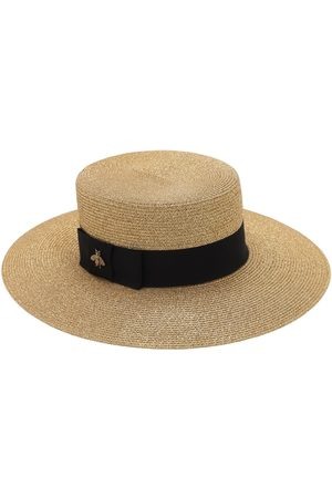 Gucci Women Hats - Straw Hat W/ Cotton Details