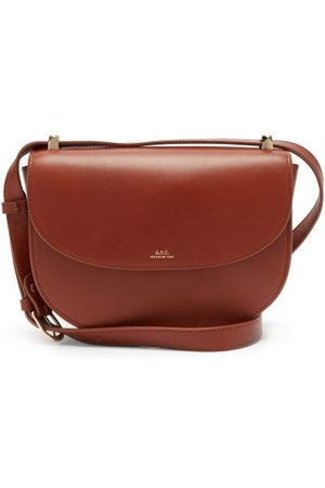A.P.C Genève Cross-body Smooth-leather Bag - Womens - Tan
