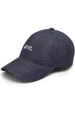 A.P.C. - Charlie Logo-embroidered Denim Baseball Cap - Mens - Dark