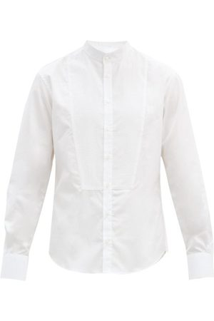 Bourrienne Paris X Romancier Stand-collar Cotton-poplin Bib Shirt - Mens