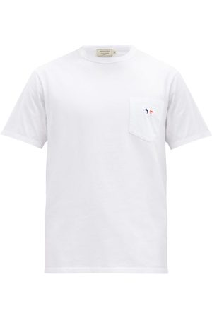 Maison Kitsuné Men T-shirts - Tricolour Fox-patch Cotton-jersey T-shirt - Mens