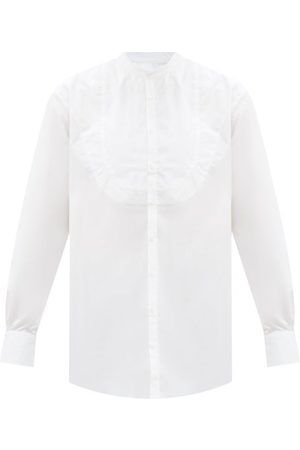 Bourrienne Paris X Cortège Curved-plastron Linen-poplin Shirt - Mens