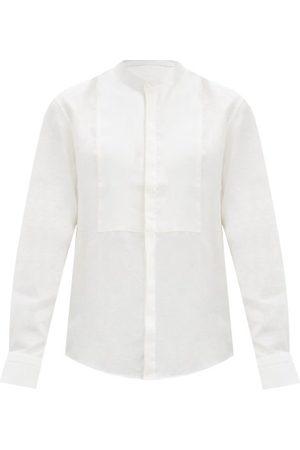 Bourrienne Paris X Nocturne Stand-collar Bib Linen Shirt - Mens