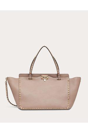 VALENTINO GARAVANI Medium Rockstud Grainy Calfskin Bag Women Poudre 100% Pelle Di Vitello - Bos Taurus OneSize