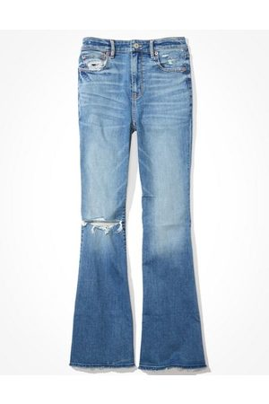 American Eagle Outfitters Super High-Waisted Flare Jean Women's 2 Regular