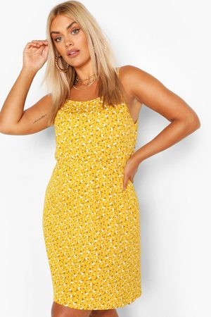 Boohoo Womens Plus Ditsy Floral Strappy Sundress - - 12