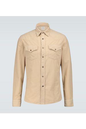 Brunello Cucinelli Leisure-fit corduroy shirt