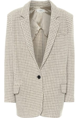 Isabel Marant Kaito houndstooth virgin-wool blazer