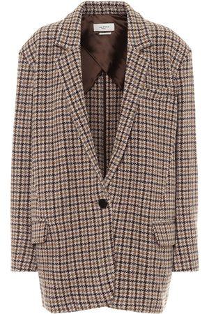 Isabel Marant Kaito houndstooth virgin-wool blazer