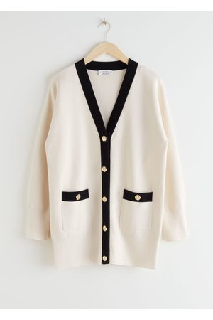 & OTHER STORIES Oversized Gold Button Cardigan