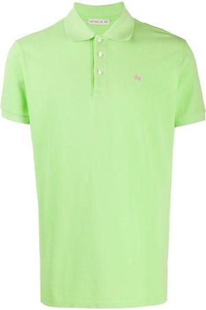 Etro Men Polo Shirts - Embroidered-logo polo shirt