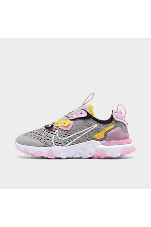 Nike Girls' Big Kids' React Vision Running Shoes in Grey Size 4.0