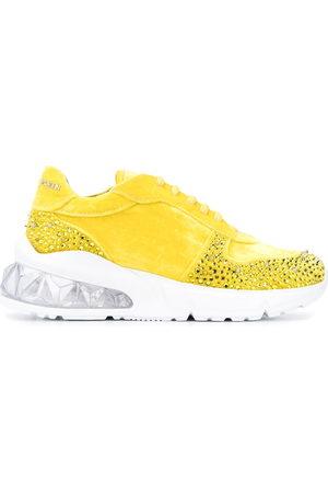 Philipp Plein Studs velvet chunky-sole sneakers