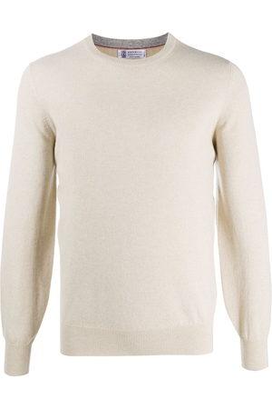 Brunello Cucinelli Cashmere fitted jumper - NEUTRALS