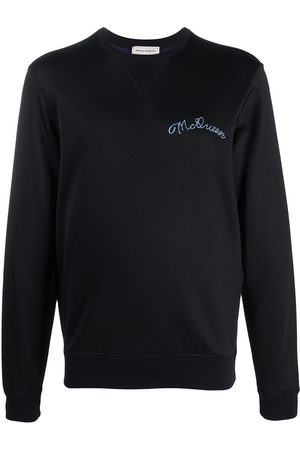 Alexander McQueen Embroidered logo jumper