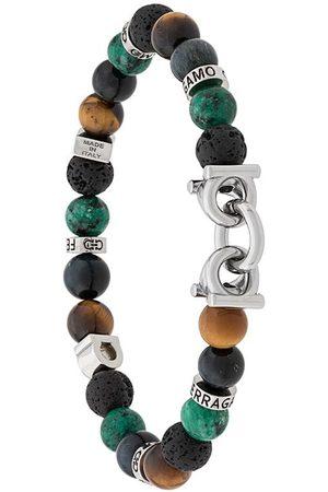 Salvatore Ferragamo Semi-precious stone and Gancini bracelet