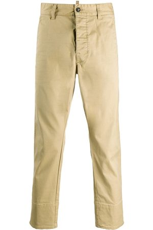 Dsquared2 Men Chinos - Slim-fit cropped chino trousers - Neutrals