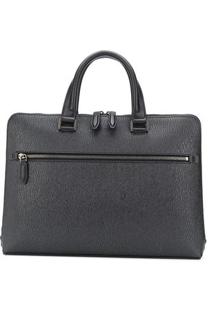 Salvatore Ferragamo Zipped textured briefcase