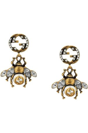 Gucci Double G bee earrings