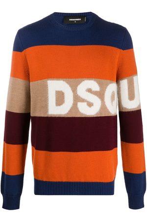 Dsquared2 Logo-jacquard striped sweater