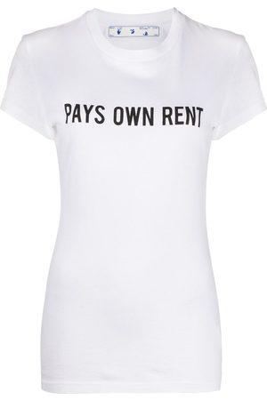 OFF-WHITE Pays Own Rent print T-shirt