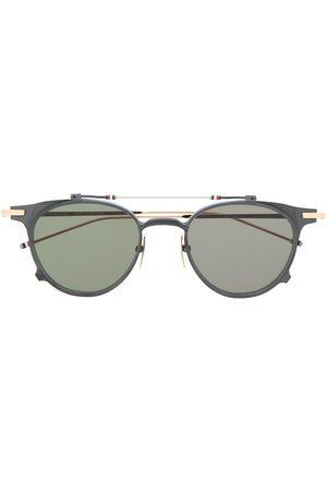 Thom Browne Round - Round-frame flip-up sunglasses