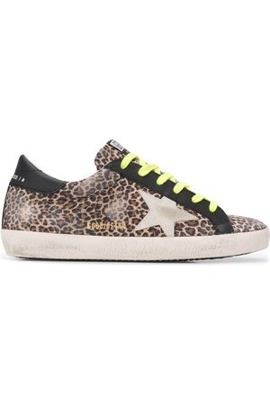 Golden Goose Women Sneakers - Superstar leopard-print sneakers - NEUTRALS