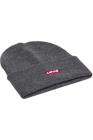 Levi's Batwing Slouchy Embroidered Beanie One Size Regular Grey