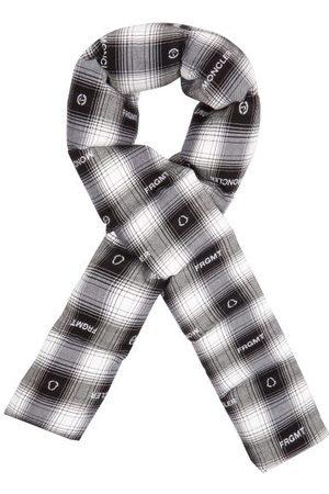 7 MONCLER FRAGMENT Logo-jacquard Tartan Padded Flannel Scarf - Mens