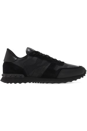 VALENTINO GARAVANI Rock Runner Leather & Canvas Sneakers