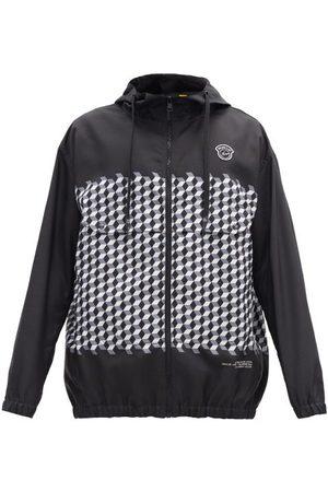 7 MONCLER FRAGMENT Kaplan Hooded Tile-print Windbreaker Jacket - Mens