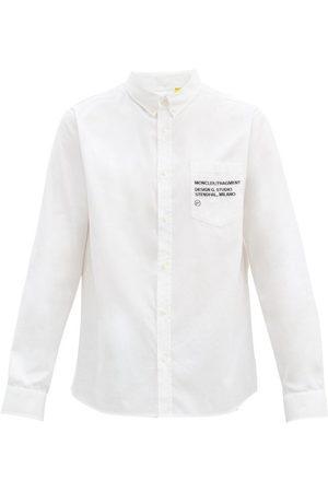 7 MONCLER FRAGMENT HIROSHI FUJIWARA Logo-embroidered Cotton-oxford Shirt - Mens