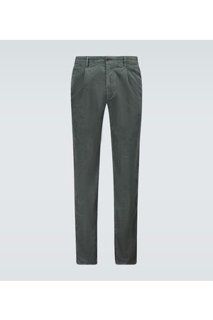 Incotex Corduroy pleated pants