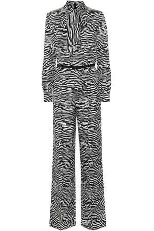 Max Mara Darling zebra-print silk jumpsuit