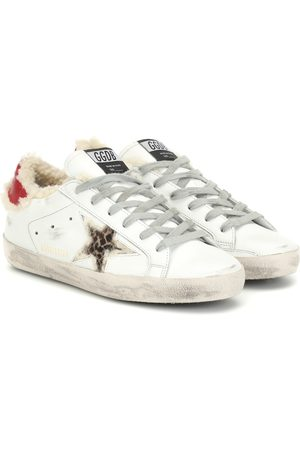 Golden Goose Superstar shearling-lined sneakers