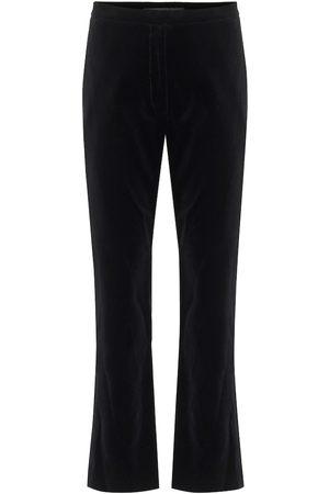 Costarellos Meliza high-rise velvet pants