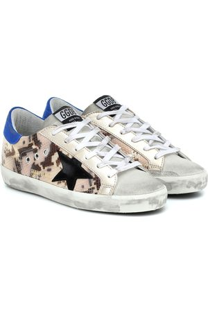 Golden Goose Superstar snake-effect sneakers