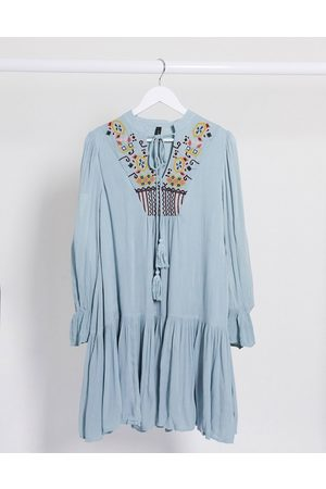 Y.A.S Embriodered smock dress in